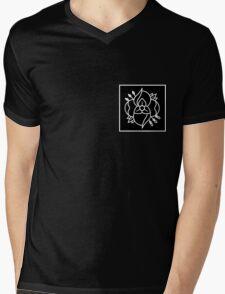 La dispute logo (black bkg with white logo) Mens V-Neck T-Shirt