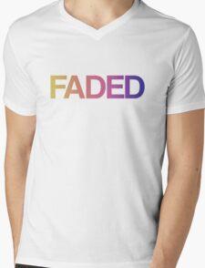 Faded Mens V-Neck T-Shirt