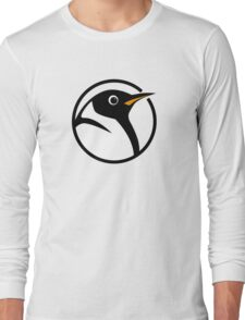 linux penguin circle logo Long Sleeve T-Shirt