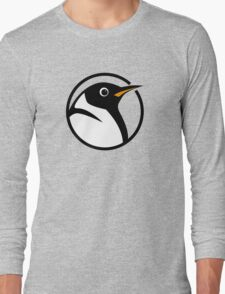 linux penguin circle logo Long Sleeve T-Shirt