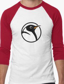 linux penguin circle logo Men's Baseball ¾ T-Shirt