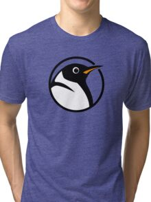 linux penguin circle logo Tri-blend T-Shirt