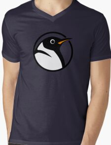 linux penguin circle logo Mens V-Neck T-Shirt