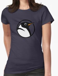 linux penguin circle logo Womens Fitted T-Shirt