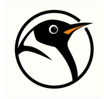 linux penguin circle logo Art Print