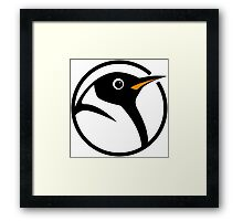 linux penguin circle logo Framed Print