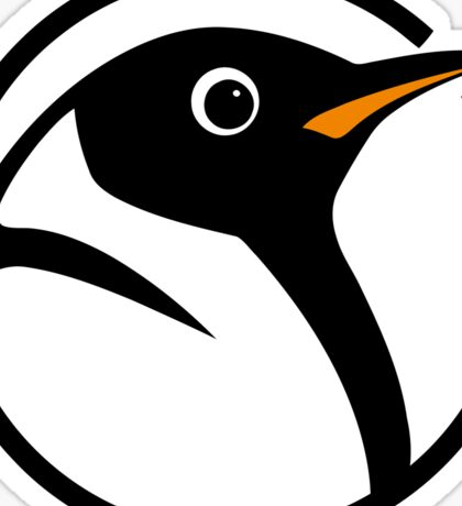 linux penguin circle logo Sticker