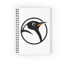 linux penguin circle logo Spiral Notebook