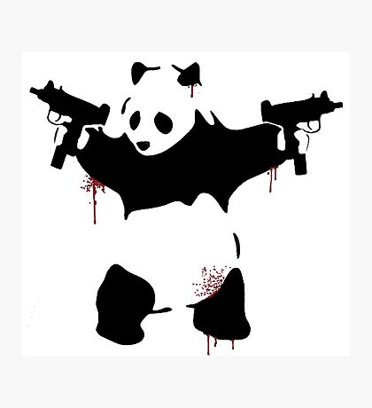 Bad Pandas Photographic Print