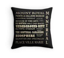 Montreal Quebec Famous Landmarks Throw Pillow