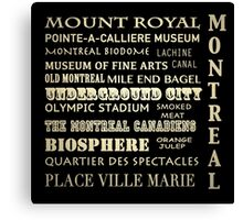 Montreal Quebec Famous Landmarks Canvas Print