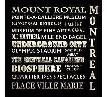 Montreal Quebec Famous Landmarks Photographic Print