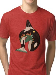 World on the Whale's Back Tri-blend T-Shirt