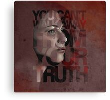 You Can't Walk Away From Your Truth -- Myka Detail Canvas Print