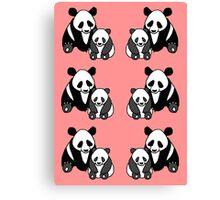 Panda family pattern Canvas Print