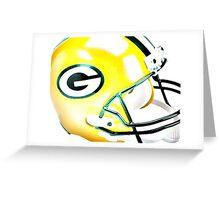 Green Bay Packers Helmet - Watercolor Greeting Card