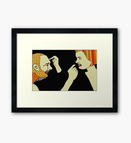 Can I pick your brains, please? Framed Print
