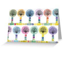 watercolor trees Greeting Card