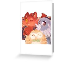 Pokemon Gen 7 starters Greeting Card