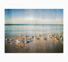 Beach Combers - Seagull Art by Sharon Cummings Kids Tee