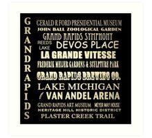 Grand Rapids Michigan Famous Landmarks Art Print