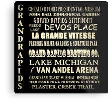 Grand Rapids Michigan Famous Landmarks Metal Print