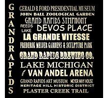 Grand Rapids Michigan Famous Landmarks Photographic Print