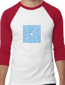 Abstract vector background with a maze. Men's Baseball ¾ T-Shirt