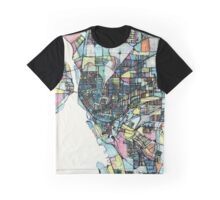 Abstract Map of Buffalo NY Graphic T-Shirt