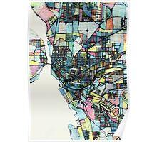 Abstract Map of Buffalo NY Poster