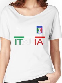 Euro 2016 Football - Italy Women's Relaxed Fit T-Shirt