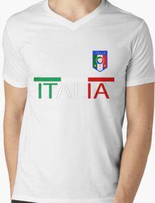 Euro 2016 Football - Italy Mens V-Neck T-Shirt