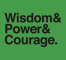 Wisdom & Power & Courage. Kids Clothes