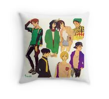 shingeki no kyojin modern day / pillow 01 Throw Pillow