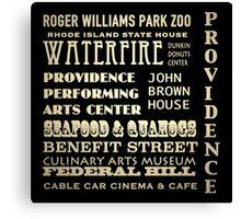 Providence Rhode Island Famous Landmarks Canvas Print