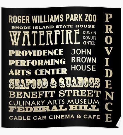 Providence Rhode Island Famous Landmarks Poster