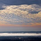 Valley Fog Sunrise Over Hot Springs Arkansas USA by Lee Hiller