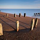 Bawdsey Groynes by Christopher Cullen