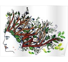 the man who have a tree in his mind Poster
