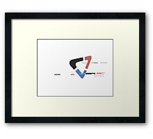 VixT with a glitch Framed Print