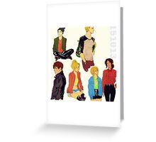 shingeki no kyojin modern day / pillow 01 Greeting Card