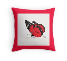 Red Butterfly Throw Pillow Throw Pillow