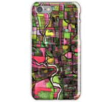 Abstract Map of Columbus OH iPhone Case/Skin
