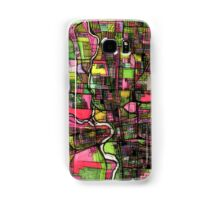 Abstract Map of Columbus OH Samsung Galaxy Case/Skin