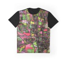 Abstract Map of Columbus OH Graphic T-Shirt