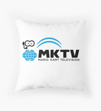 Mario Kart Television (Black) Throw Pillow