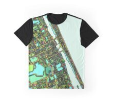 ABstract Map of Daytona Beach FL Graphic T-Shirt
