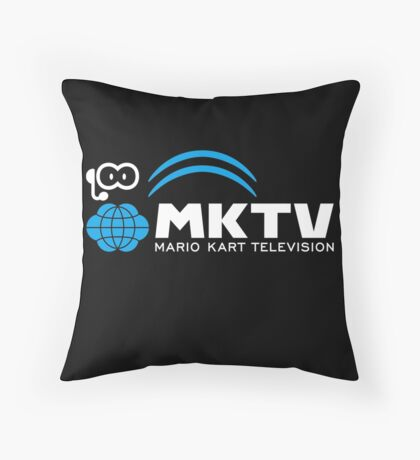 Mario Kart Television (White) Throw Pillow