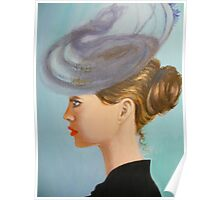 Lady in a whimsical hat Poster