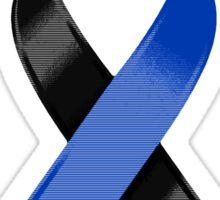 Black & Blue Awareness Ribbon of Support Sticker